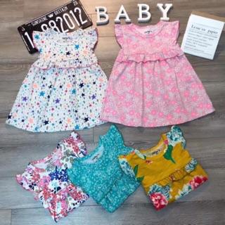 Váy đầm bé gái cực xinh thun cotton xuất mềm đẹp size 1-9 sale