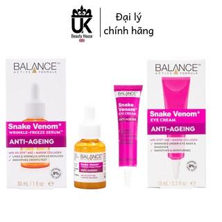 Combo serum và kem mắt nọc rắn chống lão hóa toàn diện Balance Active Formula