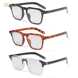 DIACHA Fashion Optical Eyewear Classic Vision Care Myopia Glasses Office Computer Goggles Square Frame Unisex Vintage Eyeglasses/Multicolor