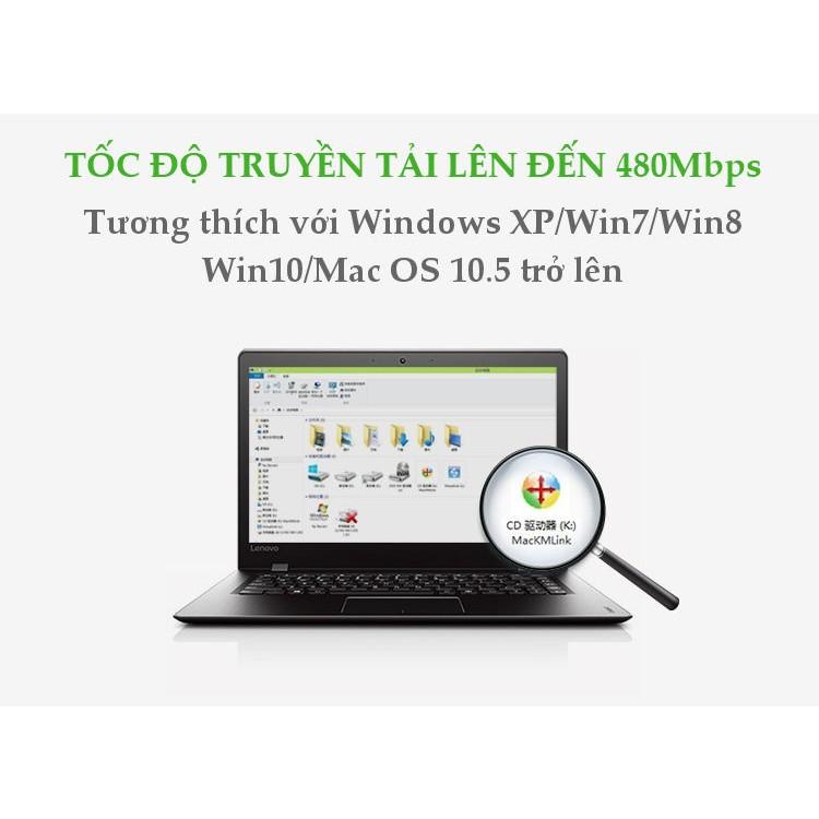 Dây USB 2.0 (Data Link) truyền dữ liệu giữa các máy tính UGREEN US166 - Hàng chính hãng