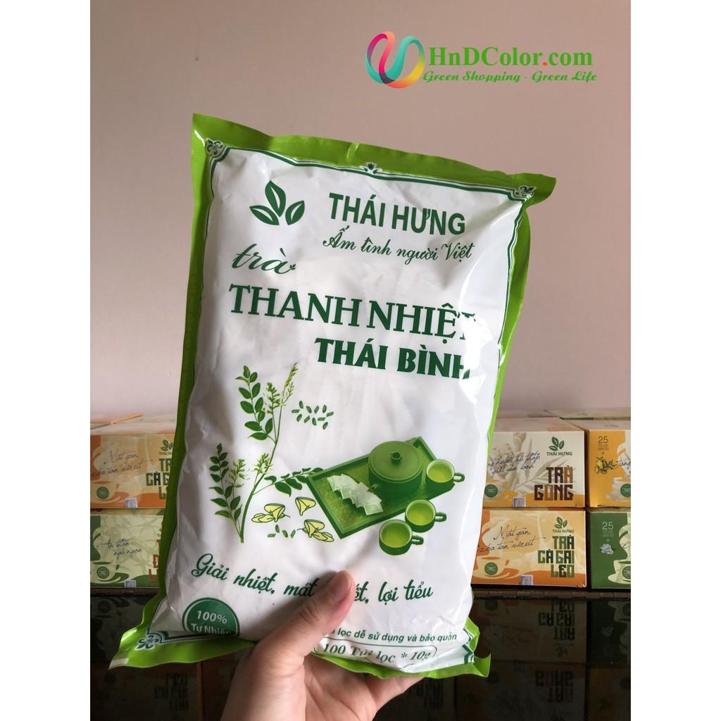 [CHÍNH HÃNG] Trà Thanh Nhiệt Thái Bình (trà thảo dược, 100% tự nhiên, dạng bịch) - giải khát, thanh nhiệt, hạ huyết áp