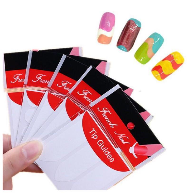 Bộ dán hỗ trợ vẽ móng French Nail Sticker
