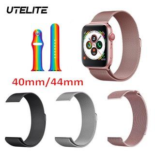 Dây đồng hồ thay thế UTELITE  silicone đơn màu dành cho IWATCH 5 IWO 8 IWO 12 PRO W68 T500 Q99 W55