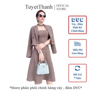 Set Áo Vest Nữ Phối Váy 2 Dây Chất Dạ Gấm Hàn Cao Cấp TuyetThanhstore Mã V1739 thumbnail