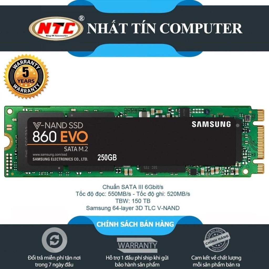 [Mã ELCLDEC giảm 7% đơn 500k] Ổ Cứng SSD M2 2280 Samsung 860 EVO 250gb-chuẩn SATA III 6Gbit/s