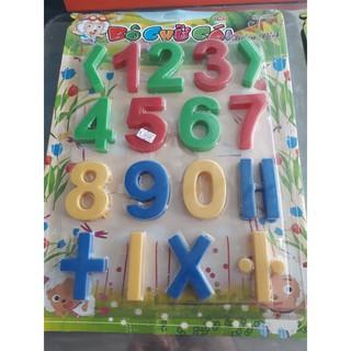 bảng số và chữ cái to