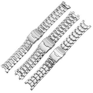 (Bolanxun) Dây đeo đồng hồ bằng thép không gỉ đặc thay thế cho dòng Casio EF-524 EF-534EF-539 Metal Edifice