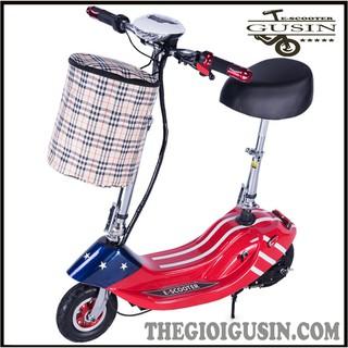 Xe Điện E-scooter mini Màu Cờ Mỹ / GuSin Phân Phối Chính Hãng / Sỉ lẽ Toàn Quốc