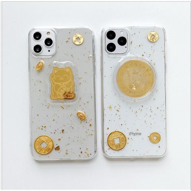 Ốp iphone chuột vàng+ mèo thần tài
