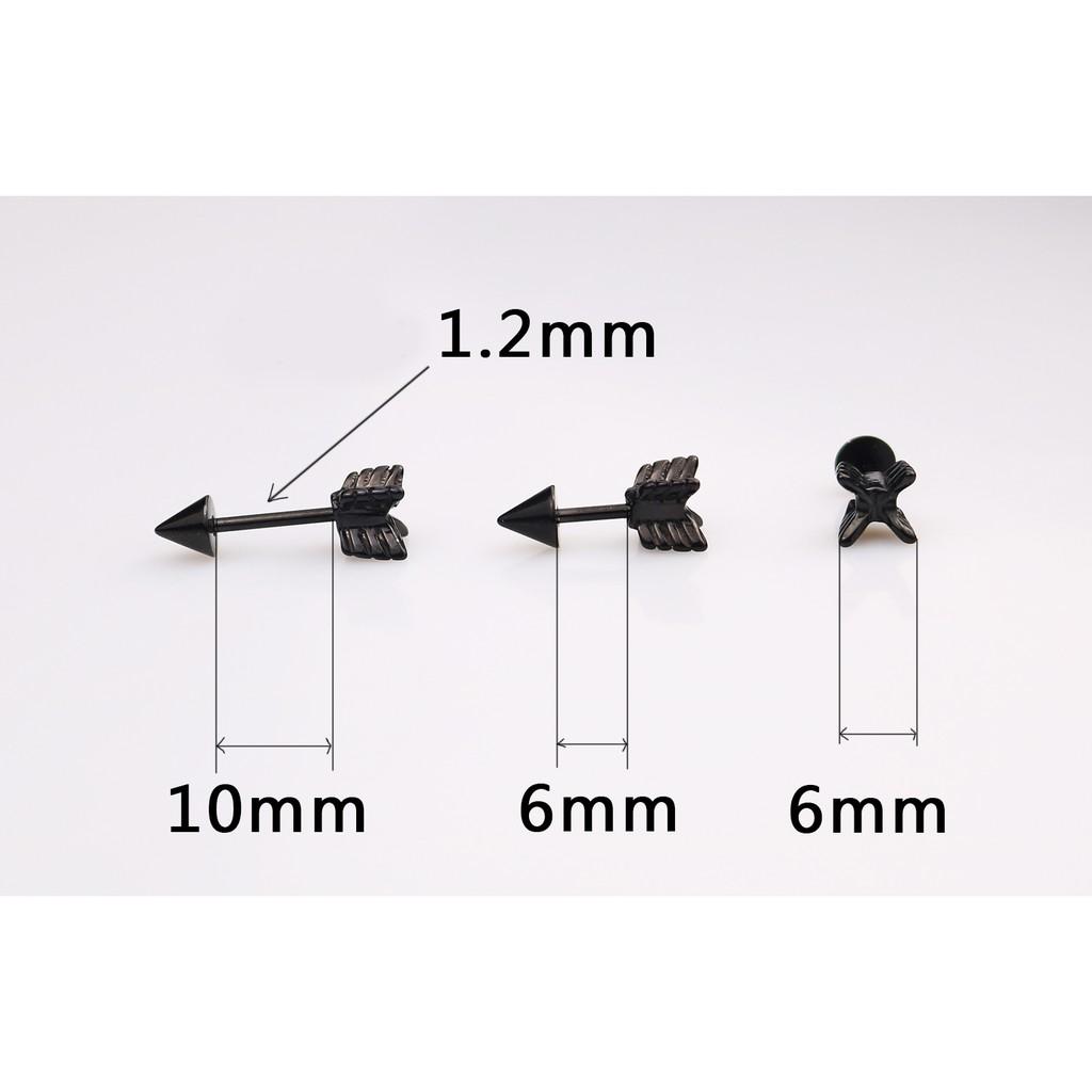 Bông tai nam mũi tên cá tính phụ kiện trang sức idol hàn quốc (1 chiếc) - MLR