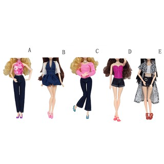 【tns】Handmade Casual Dress Pants Party Mini Gown Clothes Sets For Barbie Dolls【VN】