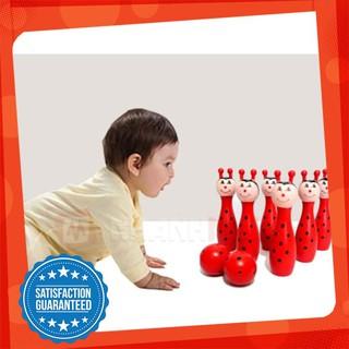 [CỰC ĐẸP] Bộ đồ chơi Bowling gỗ cho bé [HOT]