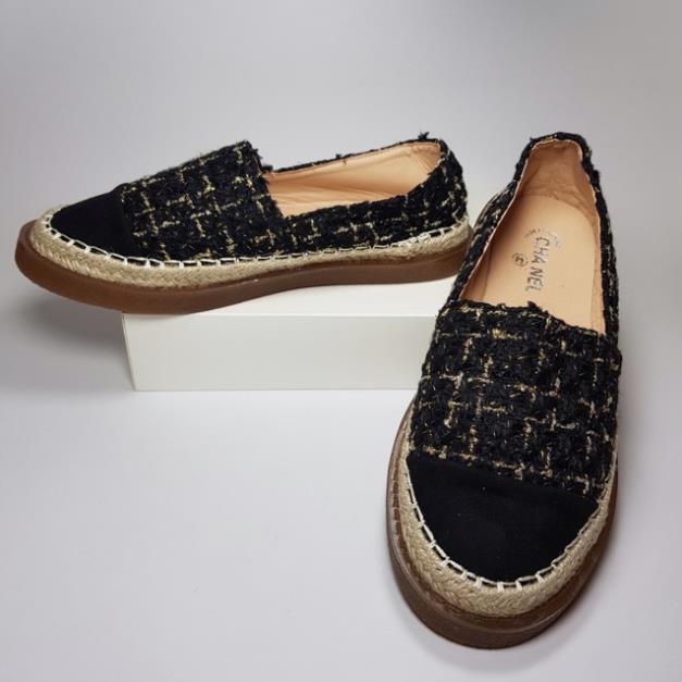 Giày lười mọi nữ kim tuyến mềm êm