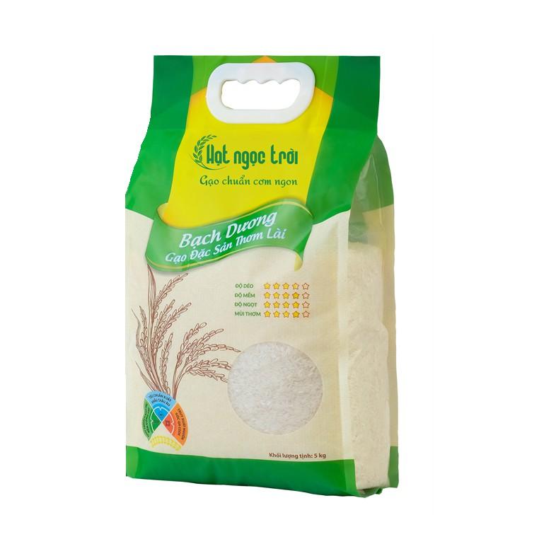 Gạo Hạt Ngọc Trời Bạch Dương 5kg - Cam Kết Date Mới