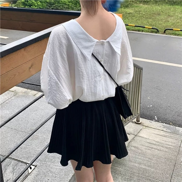 Áo kiểu mặc 2 mặt đều được