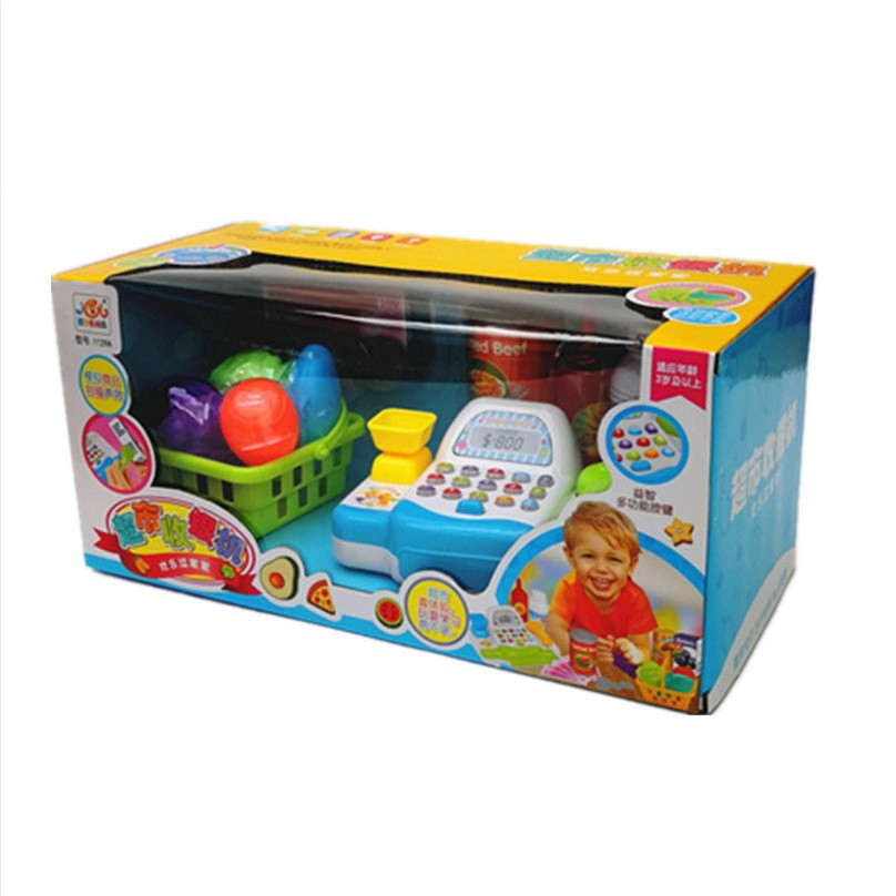 Simulated supermarket credit card machine toy