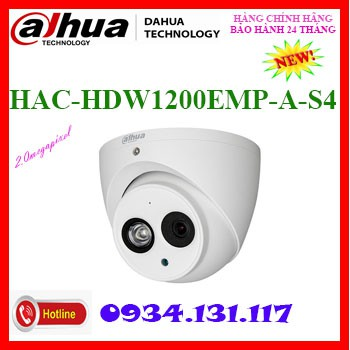 Camera Dome 4 in 1 hồng ngoại 2.0 Megapixel DAHUA HAC-HDW1200EMP-A-S5(THAY THẾ HDW1200EMP-A-S4)