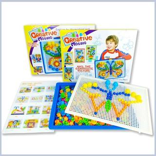 Đồ chơi xếp hình nấm thông minh 296 chi tiết cho bé