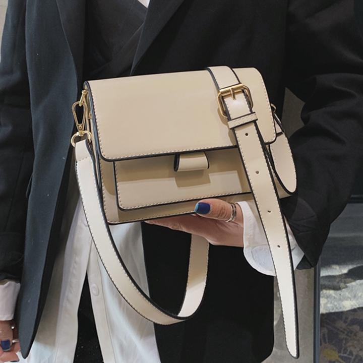 [ BEST SELLER ] Túi xách đeo chéo trần viền da siêu đẹp - T1013