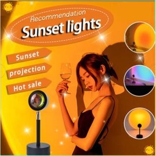 Đèn sàn chiếu hoàng hôn/mặt trời/cầu vồng trang trí hiện đại Đèn Led Màu Cầu Vồng Trang Trí Phòng Ngủ