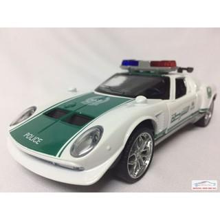 Mô hình xe Cảnh sát Lambor-ghini Miura concept Dubai tỷ lệ 1:32