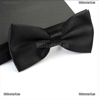 {NUV} Men Satin Bowtie Classic Wedding Party Bow Tie Solid Color Adjustable Necktie{CC}