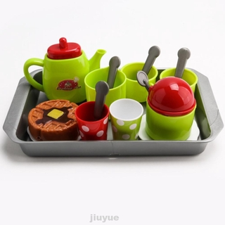 15pcs/set Kitchen Toys Cute For Children Plastic Skills Development Tea Set Random Color