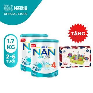 Combo 2 Sữa Bột Nestle NAN Optipro 4 (1.7kg) [Tặng 1 Bộ Đồ Chơi Rửa Chén]