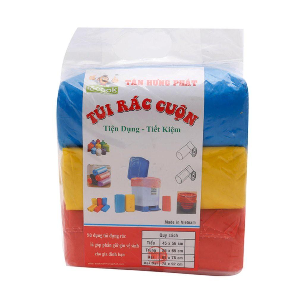 Túi đựng rác dạng cuộn Ecook 1kg ( nhiều size, nhiều màu )
