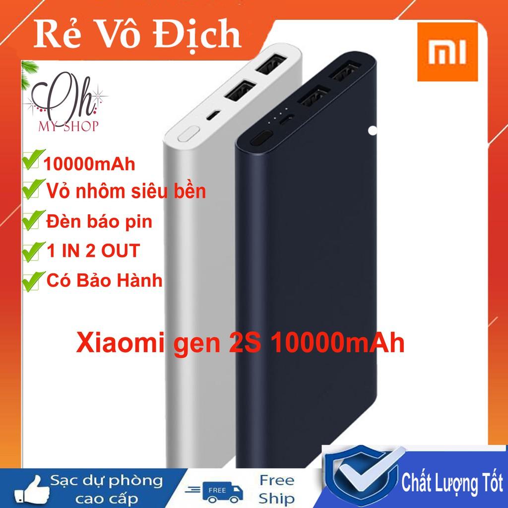 Sạc dự phòng Xiaomi Gen 2s 10.000 mAh ( 2 cổng sạc)