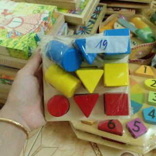 Combo 2 sp Đồ chơi gỗ thông minh