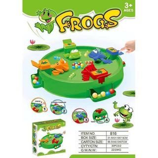 Hộp ếch ăn bi 4 con loại có hộp nhiều bi