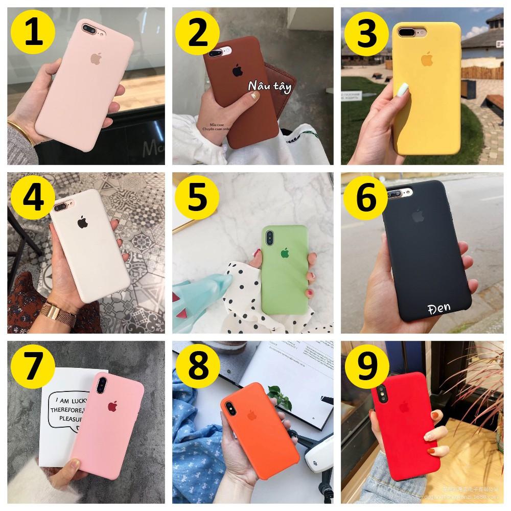 Ốp chống bẩn có nhiều màu cho iPhone từ 6 tới X - Lau Chùi Dễ Dàng Sạch Như Mới