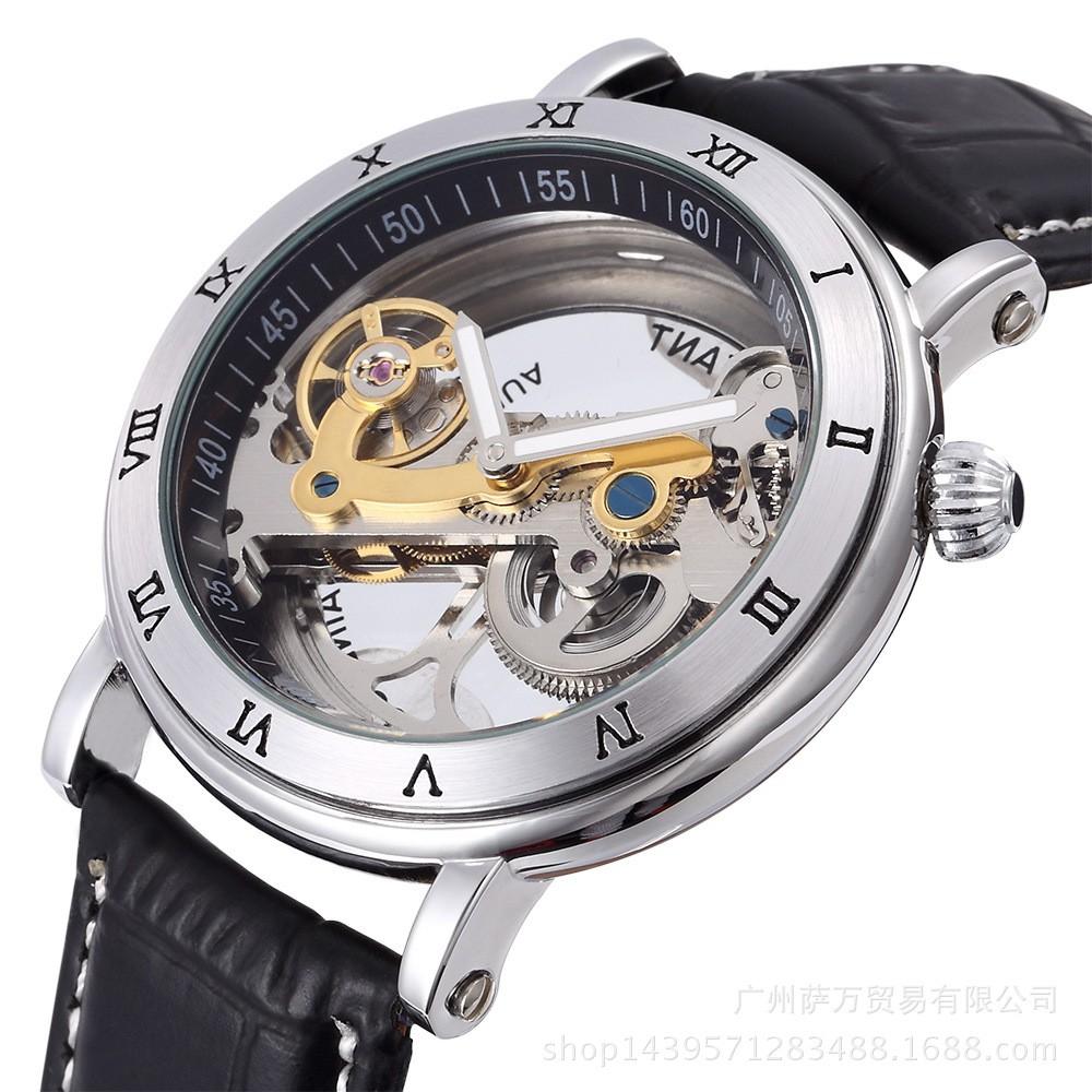 Đồng hồ nam Cơ lộ máy Cao cấp - đồng hồ nam chống nước Đồng hồ kim-điện tử