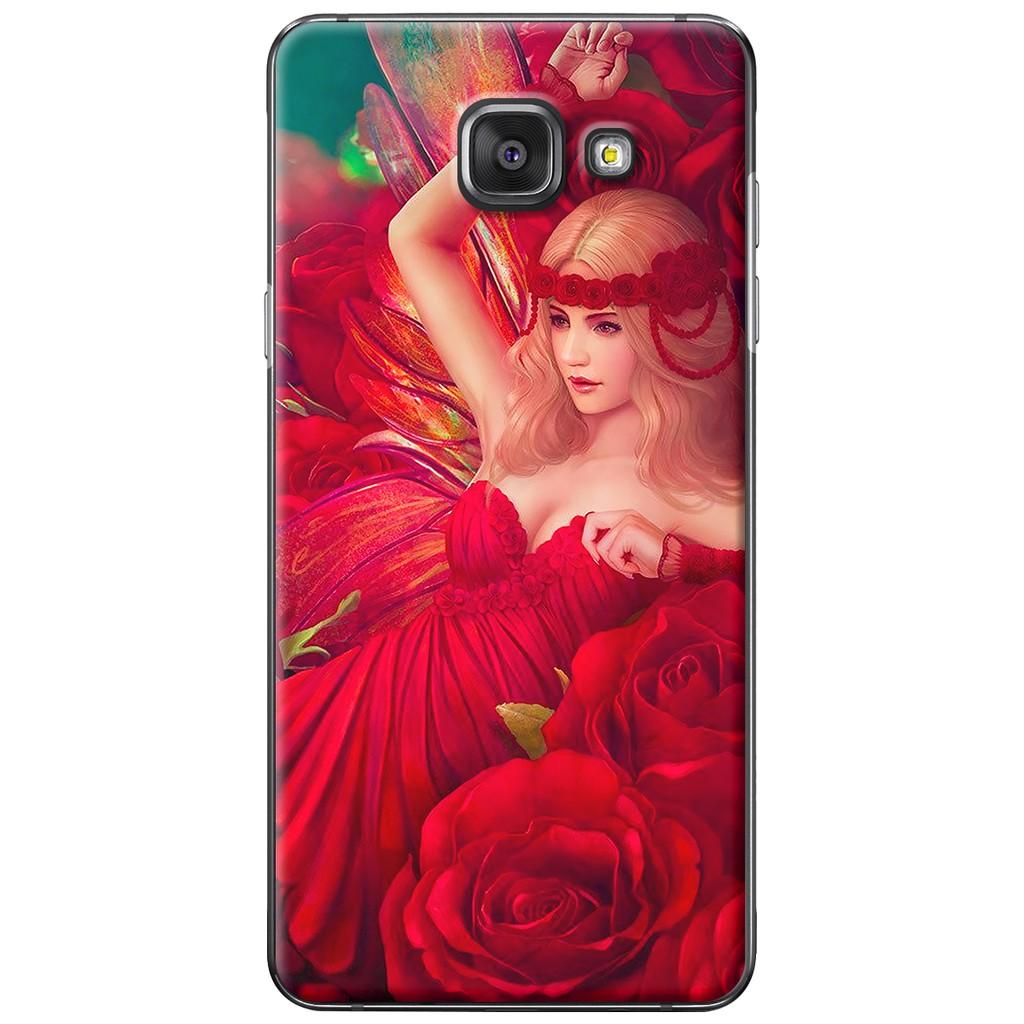 Ốp lưng Samsung A3/A5/A7/A9 (2016) - Nhựa dẻo Cô gái hoa hồng