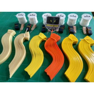 20 bộ thun ná latex bản nâng cấp cắt sẵn tặng 10 da và 1 cuộn dây cột 20m 1 cây móc thun
