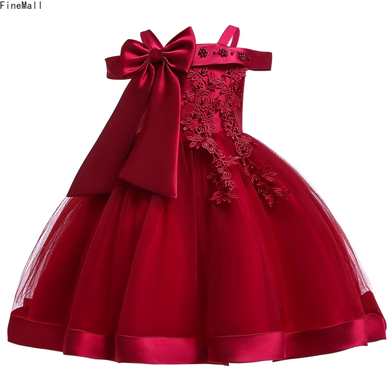3-10 Years Kids Girls Lace Elegant Birthday Party Bridesmaid Princess Tutu Dress