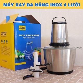 MÁY XAY THỊT ĐA NĂNG FOOD PROCESSOR CỐI INOX 4 LƯỠI 2 LÍT