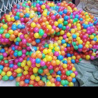 Combo 500 bóng 7 màu loại nhựa tốt loại 5cm cho bé