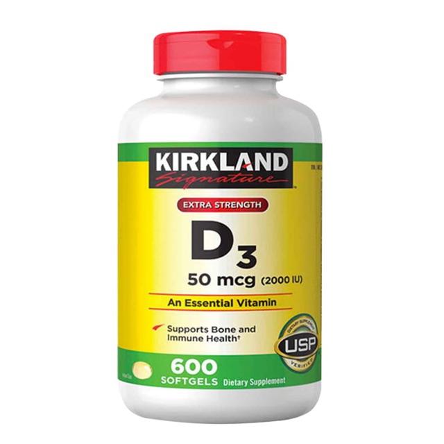 Vitamin D3 Kirkland Extra Strength D3 50mcg 600v