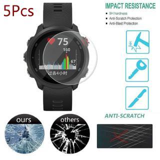 5 PCS  for Garmin Forerunner 245 945 935 735xt 735 645 Clear Film Tempered Glass Screen Protector Watch Anti-scratch