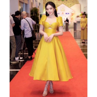 Đầm xoè công chúa khoét ngực Siêu Xinh – Size M/L đến 57kg