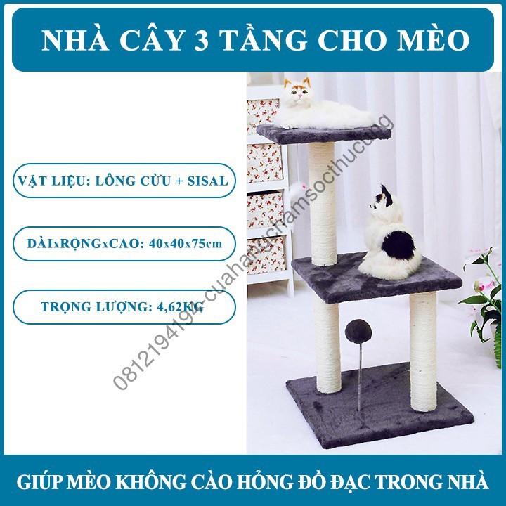 Nhà Cây cho Mèo Leo 3 Tầng - 13892985 , 2286056218 , 322_2286056218 , 1320000 , Nha-Cay-cho-Meo-Leo-3-Tang-322_2286056218 , shopee.vn , Nhà Cây cho Mèo Leo 3 Tầng