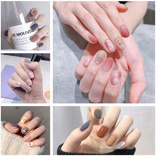 Bộ dán móng tay nail sticker gồm 14 móng, không thấm nước, độ đàn hồi tốt DA201-DA220