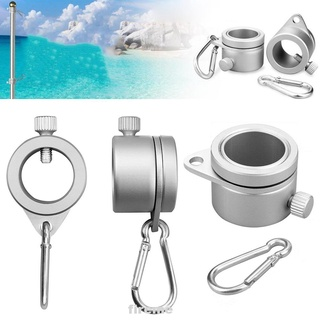 1pair Flag Pole Ring Outdoor With Cla Carabiner Attachments Kit