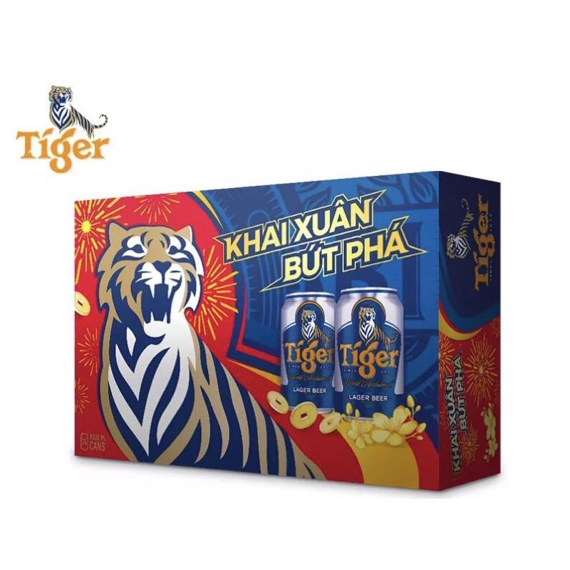 Thùng 24 Lon Bia Tiger 330ml