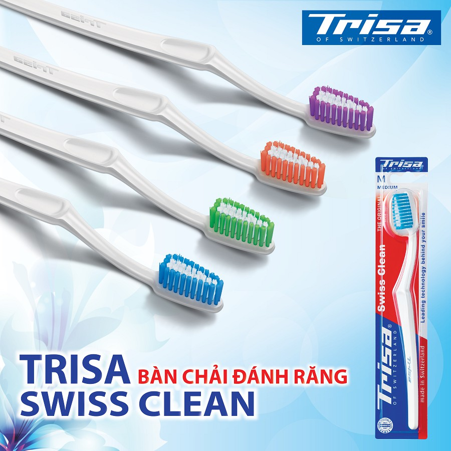 Bàn Chải Đánh Răng Trisa Swiss Clean