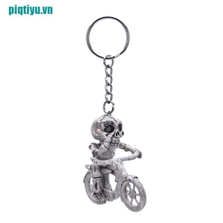 ♥Fashion Creative Bike Skull Purse Bag Rubber KeyChain Keyring Gift Key Chain,