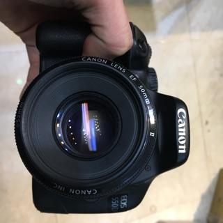Máy ảnh cũ canon 550D kèm fix canon 50mm f1.8 ii