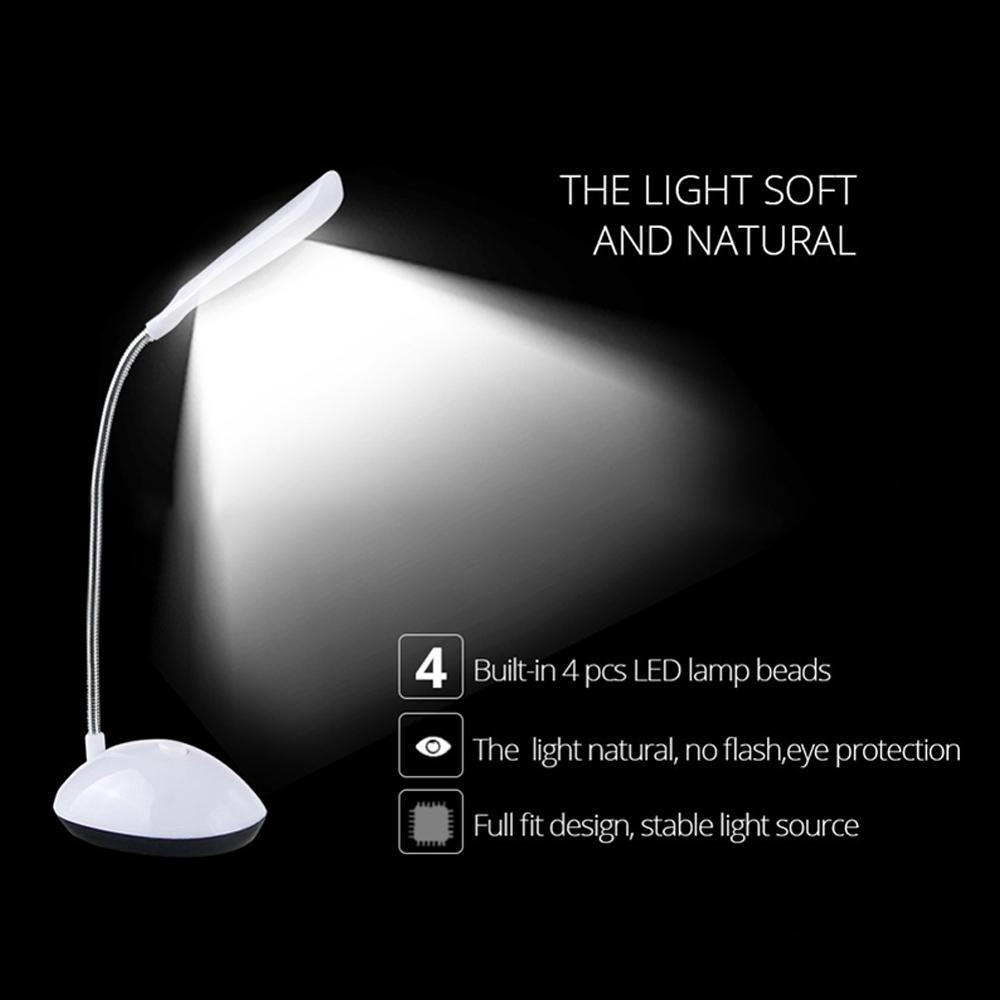 Đèn LED để bàn có thể điều chỉnh được với năng lượng pin AAA